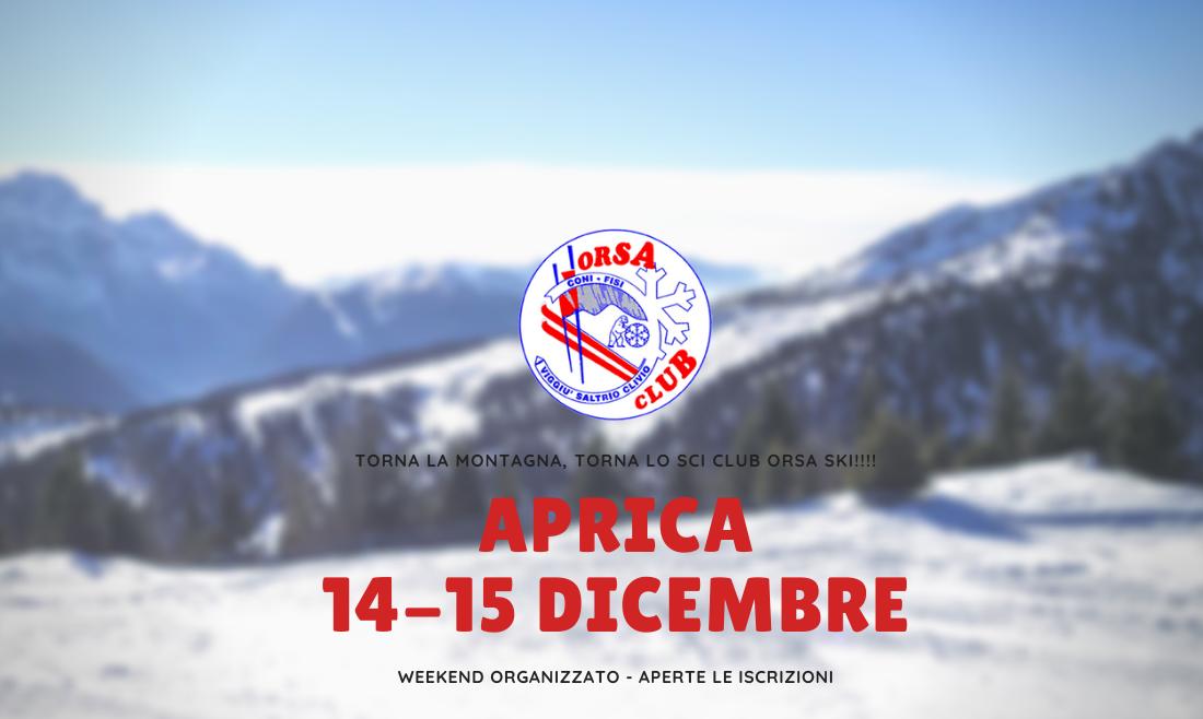 Weekend 14-15 Dicembre: tutti in montagna!!!